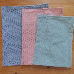 sacs à vrac rose et bleu