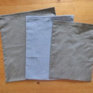 sacs à vrac gris et bleu