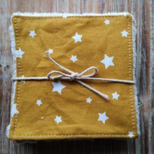 lingettes jaunes à étoile
