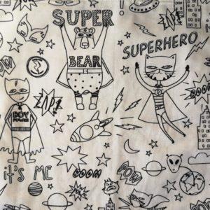 motif super héros