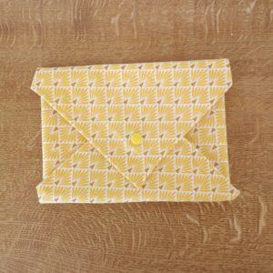 pochette pain de mie motif jaune