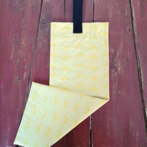 sac baguette géométrique jaune
