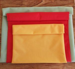 3 tailles de sacs congélation lavables