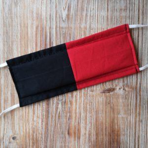 masque rouge et noir